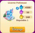 Poney sucre d'orge/Licorne Patineuse => Crin de Poney Rose Sans_107