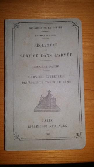 Réglement du Service dans l'Armée - Service Intérieur des Corps de Troupe du Génie Rzogle10