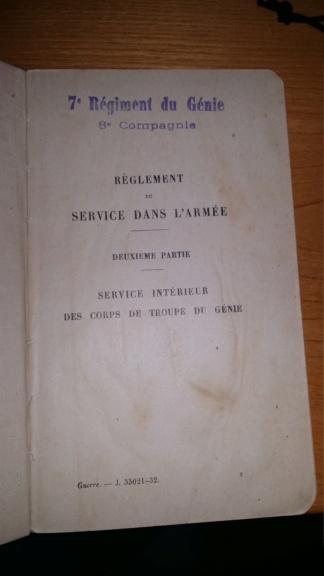 Réglement du Service dans l'Armée - Service Intérieur des Corps de Troupe du Génie Rzogle11