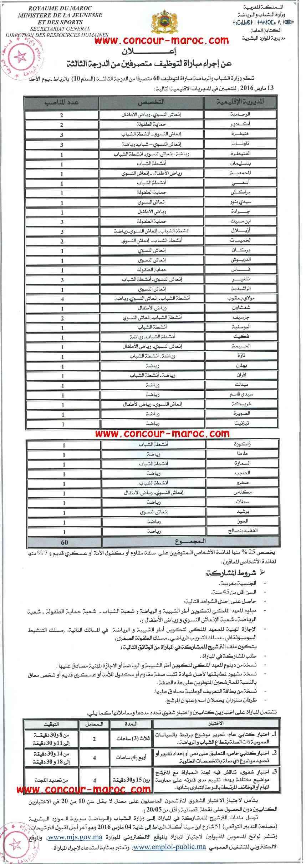 وزارة الشباب والرياضة : مباراة لتوظيف متصرف من الدرجة الثالثة (60 منصب) آخر أجل لإيداع الترشيحات 4 مارس 2016 Concou10
