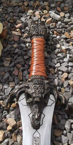 Handmade functional Conan Father's Master's sword for sale Fat_1010