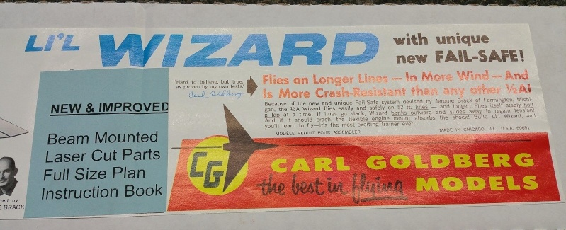 For Sale NIB Carl Goldberg Lil Wizard Control Line Kit G2_tif11