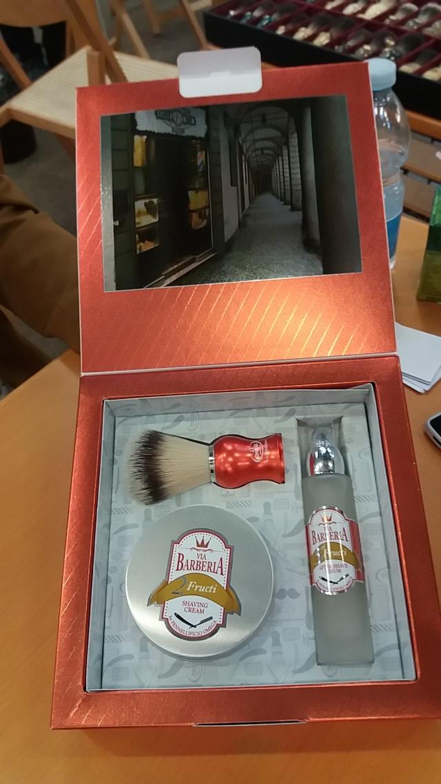 """Gamme de 5 produits de rasage Omega """"Via Barberia"""" 20160312"""