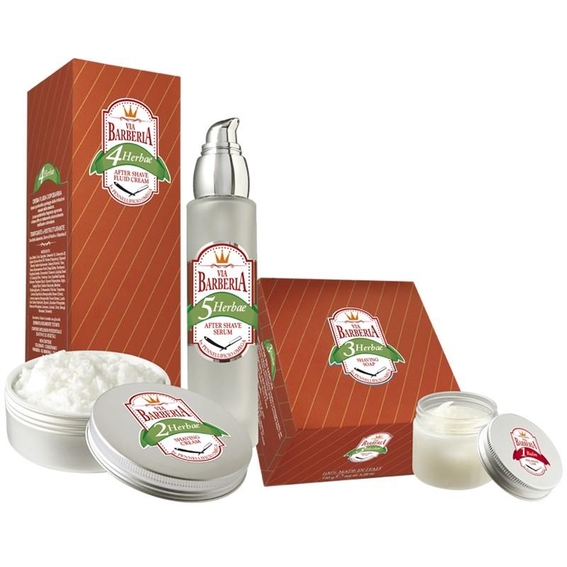 """Gamme de 5 produits de rasage Omega """"Via Barberia"""" Herbae11"""