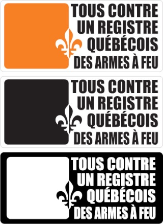 Tous contre un registre quebecois des armes à feu Autoco11