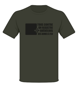 Tous contre un registre quebecois des armes à feu T-shir10