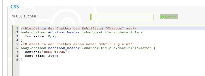 CSS-Anleitung: Chatbox eines Forums umbenennen Ohne_t10