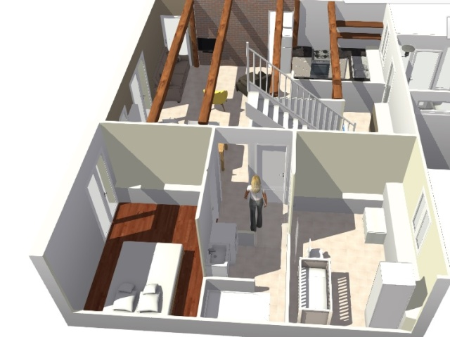 Les chambres: moins de 9m² Gite_v18