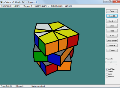 New RubikMorph program Square10