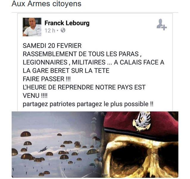 le général Piquemal sort du silence en venant à Calais malgré l'interdiction de la manifestation - arrestation du général Piquemal  - Page 6 Piquem10