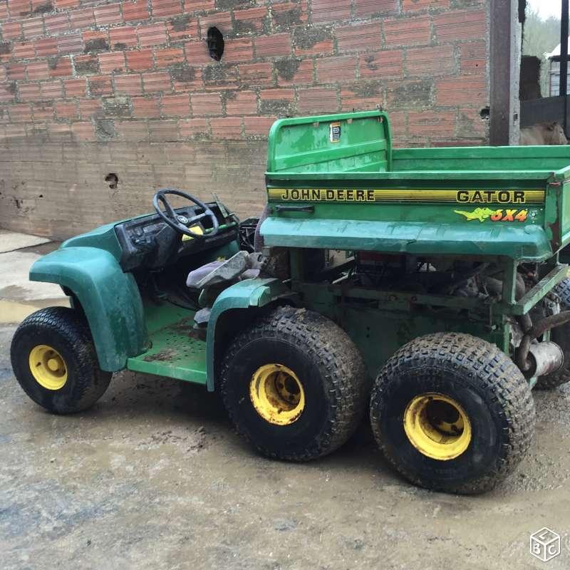 Gator 6x4 à moteur de voiture et jumelage des roues AR 6x4_ro23