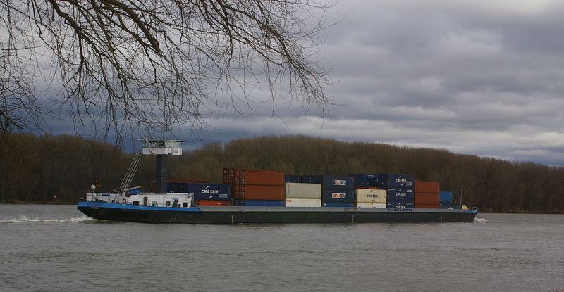 Was alles so auf dem Rhein schwimmt Imgp0926