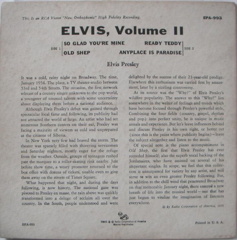 ELVIS VOL. 2 4a10