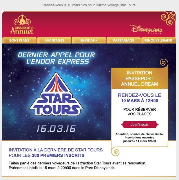 [Soirée spéciale] Ultime voyage de Star Tours vers la Lune d'Endor (le 16 mars 2016) - Page 2 Starto10