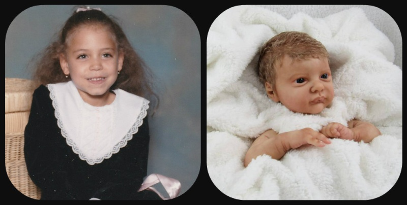 My new biracial skintone with comparison picture of my daughter Rachel10