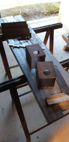 fabrication d'un tréteau a rouleau 20200311