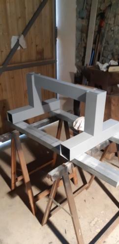 fabrication d'un tréteau a rouleau 20200317