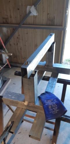 fabrication d'un tréteau a rouleau 20200318