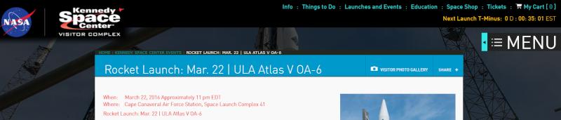 Lancement Atlas V / Cygnus OA-6 - 23 mars 2016 au KSC - Page 3 Captur12