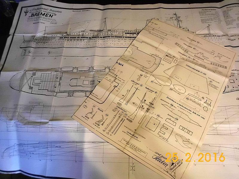 TS Bremen V - Restaurationsbericht zu einem alten Modellschiff in 1/200 111