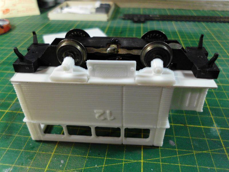 Kleiner Schienenbus im 3D Druck, 0n30 - Fertig 1160
