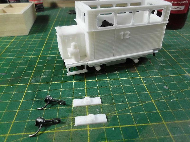 Kleiner Schienenbus im 3D Druck, 0n30 - Fertig 1163