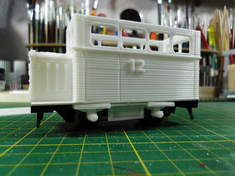 Kleiner Schienenbus im 3D Druck, 0n30 - Fertig 1218