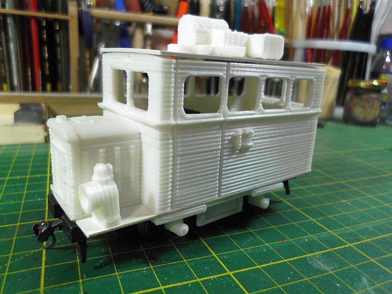 Kleiner Schienenbus im 3D Druck, 0n30 - Fertig 1315