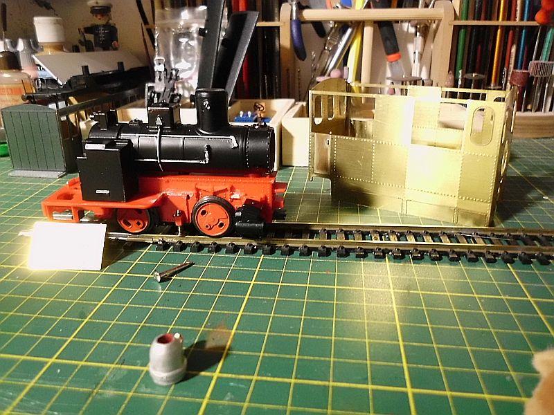 Kastendampflok / Tramwaylok in 1/45 Spur 0e von 0Scale Hobbyshop - Baubericht 1610
