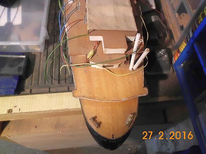 TS Bremen V - Restaurationsbericht zu einem alten Modellschiff in 1/200 212