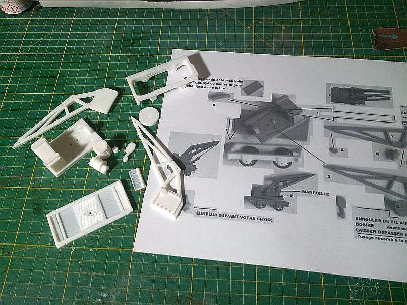 Kleiner Eisenbahnkran im 3D - Druck, 0n30, ein Versuch der Machbarkeit 2130