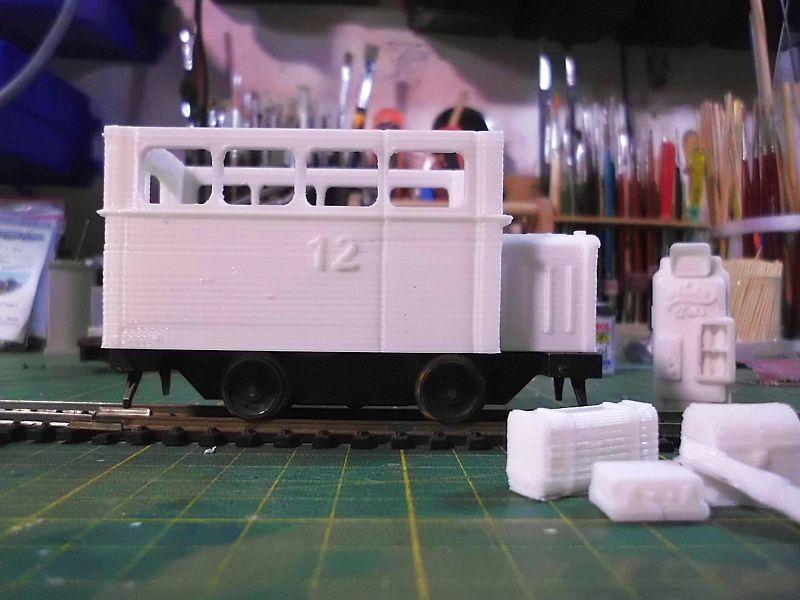 Kleiner Schienenbus im 3D Druck, 0n30 - Fertig 2131