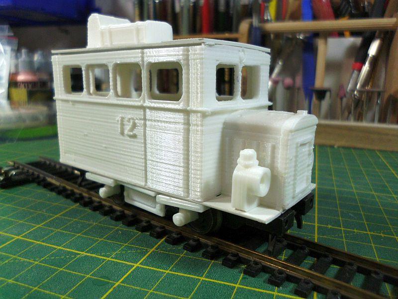 Kleiner Schienenbus im 3D Druck, 0n30 - Fertig 2132