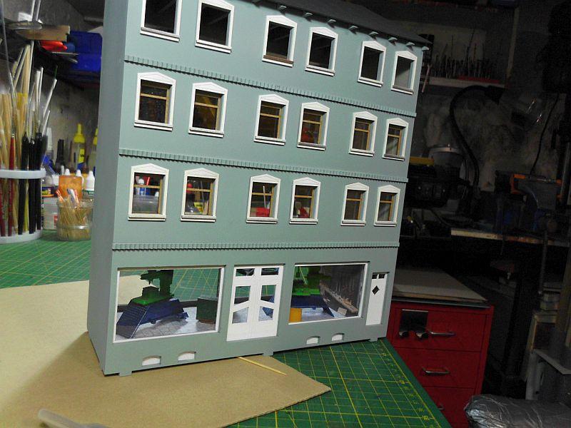 Wilamo - Häuserkulissen 1/45 kpl Strassenzeile - Baubericht 298