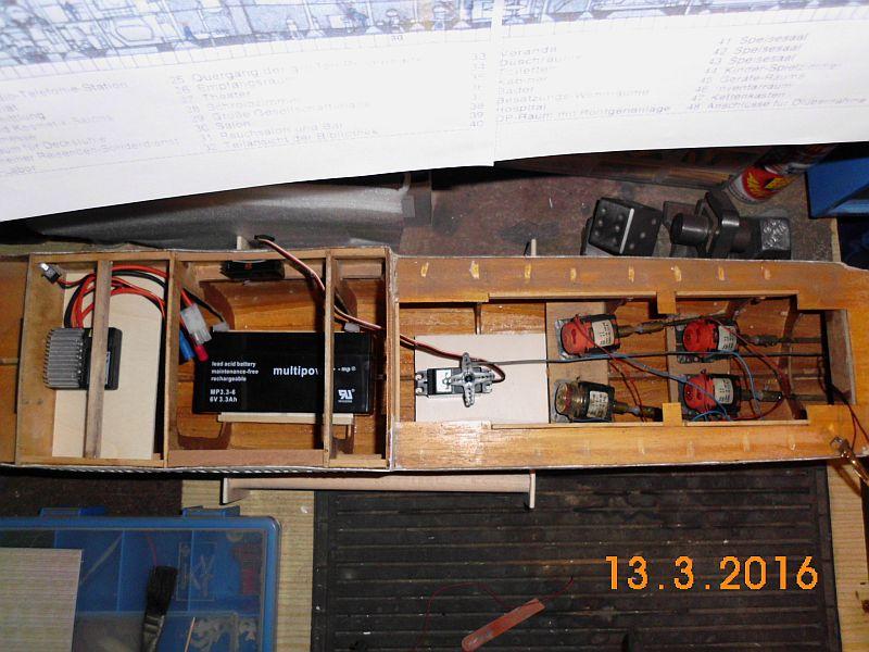 TS Bremen V - Restaurationsbericht zu einem alten Modellschiff in 1/200 313