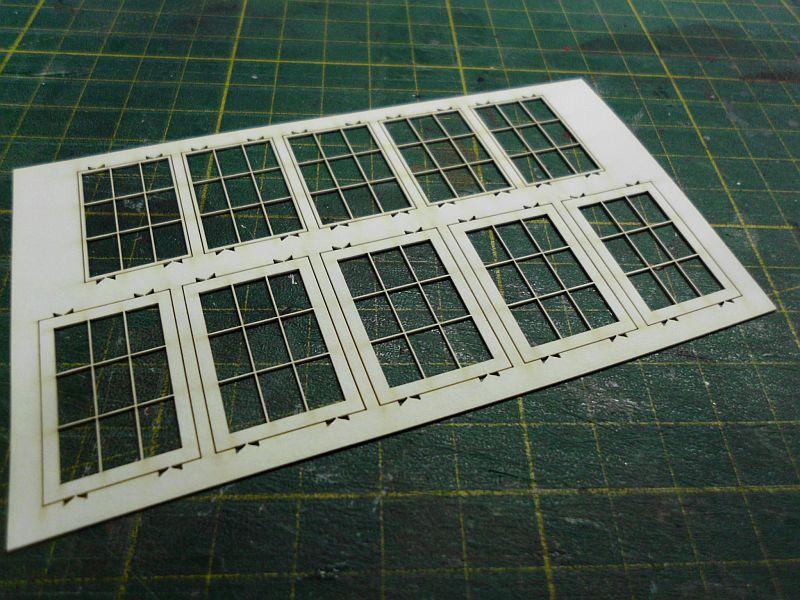 te-miniatur 1220 - Verkaufspavillon - Lasercut-Bausatz in 1/45 - Baubericht 3156