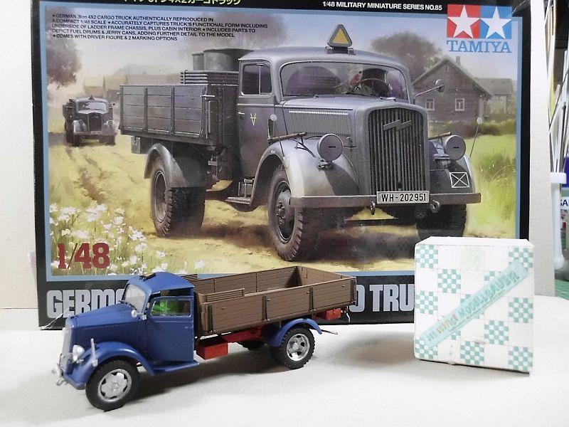 Tamiya German 3ton 4x2 Cargotruck 1/48 - Fertig 370