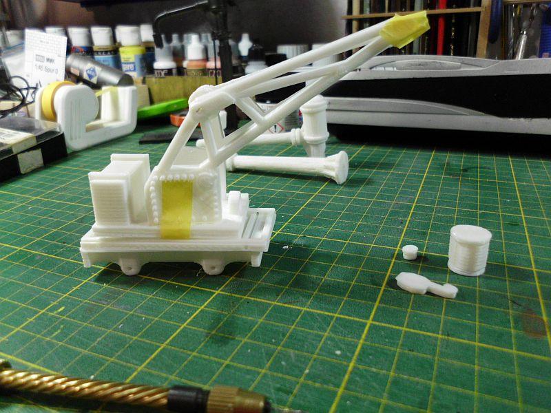 Kleiner Eisenbahnkran im 3D - Druck, 0n30, ein Versuch der Machbarkeit 392