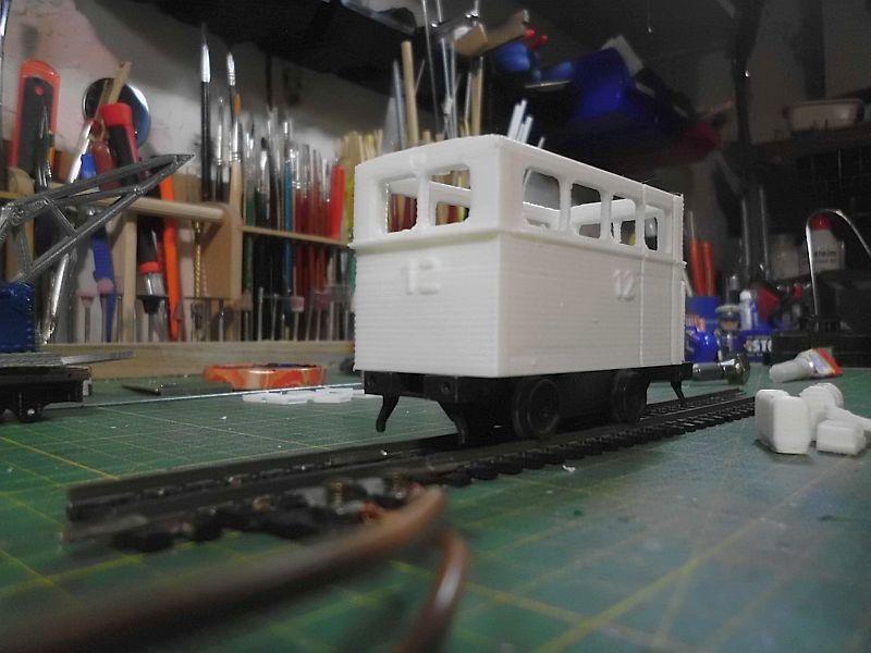 Kleiner Schienenbus im 3D Druck, 0n30 - Fertig 393