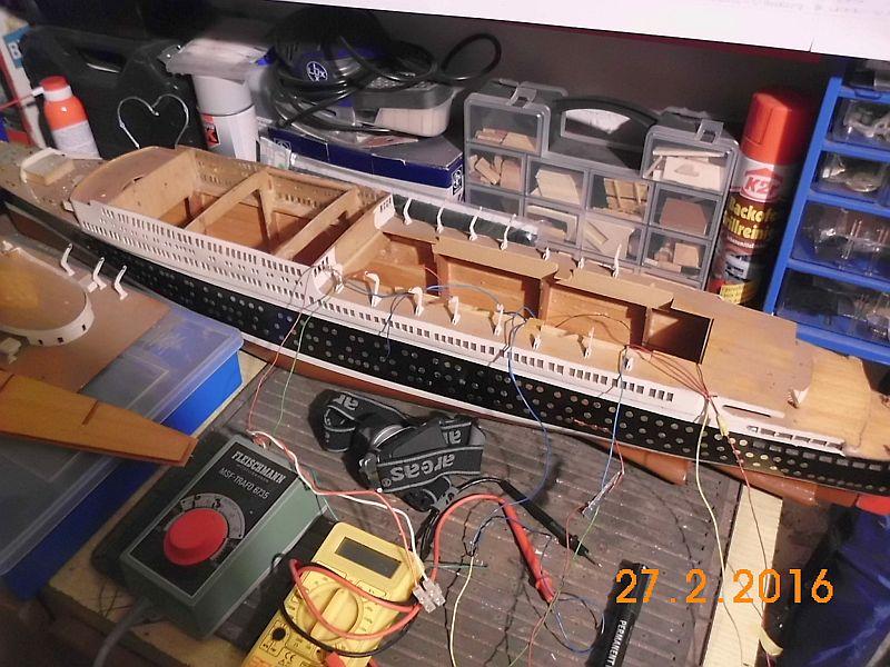 TS Bremen V - Restaurationsbericht zu einem alten Modellschiff in 1/200 3b10
