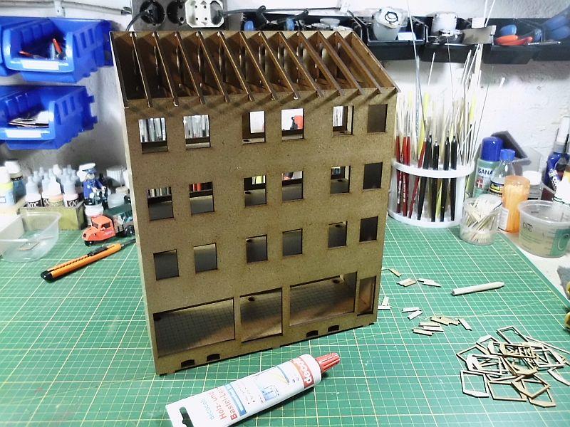 Wilamo - Häuserkulissen 1/45 kpl Strassenzeile - Baubericht 454