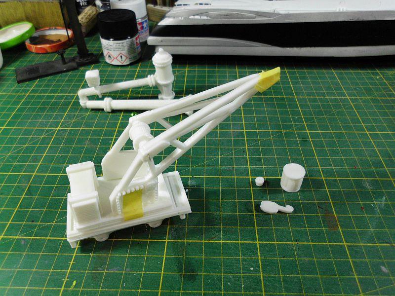 Kleiner Eisenbahnkran im 3D - Druck, 0n30, ein Versuch der Machbarkeit 470