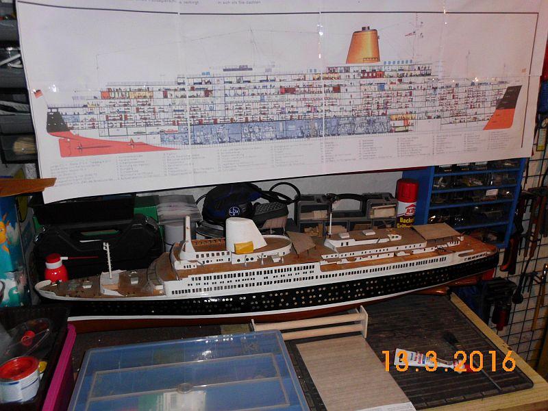 TS Bremen V - Restaurationsbericht zu einem alten Modellschiff in 1/200 512