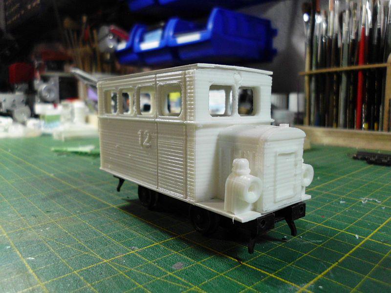 Kleiner Schienenbus im 3D Druck, 0n30 - Fertig 559