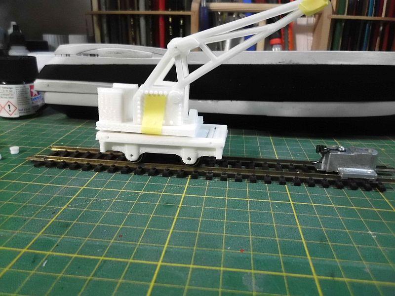 Kleiner Eisenbahnkran im 3D - Druck, 0n30, ein Versuch der Machbarkeit 647