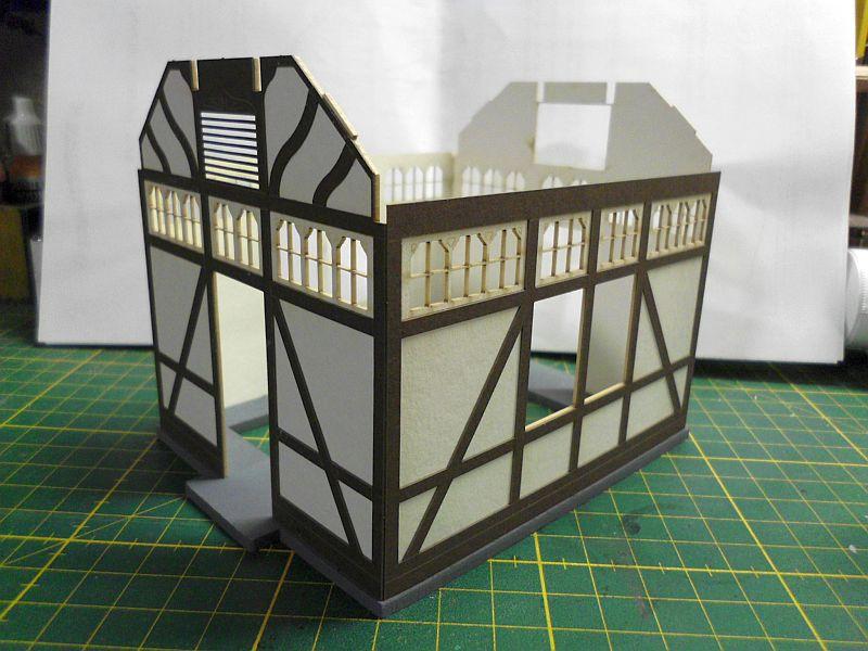 te-miniatur 1220 - Verkaufspavillon - Lasercut-Bausatz in 1/45 - Baubericht 667