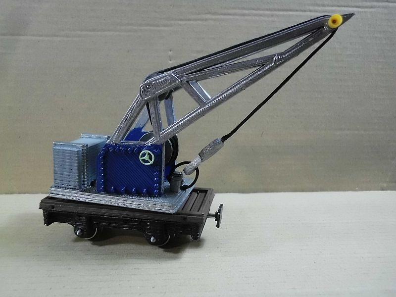 Kleiner Eisenbahnkran im 3D - Druck, 0n30, ein Versuch der Machbarkeit 741