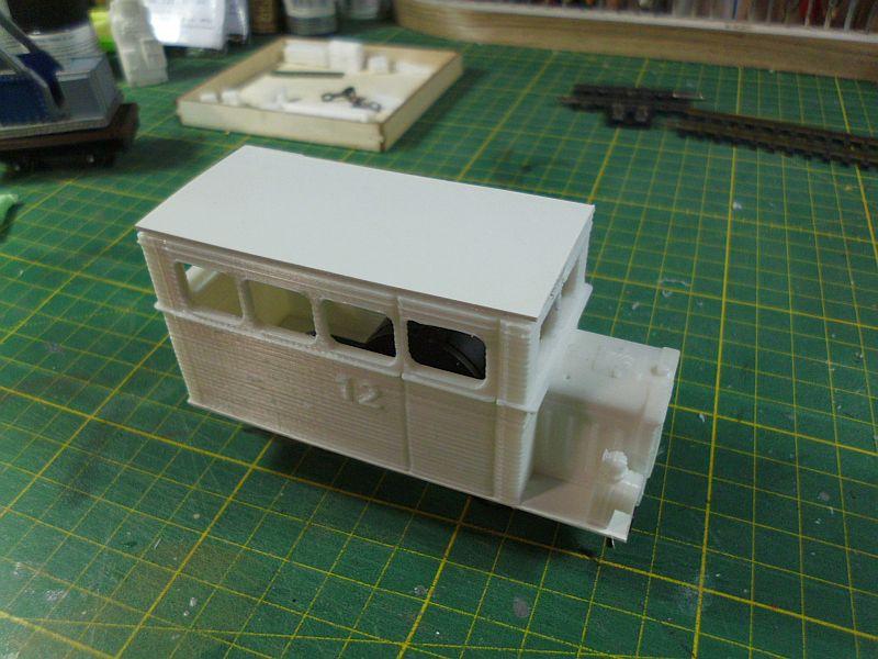 Kleiner Schienenbus im 3D Druck, 0n30 - Fertig 742