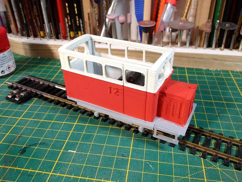Kleiner Schienenbus im 3D Druck, 0n30 - Fertig 7bus10