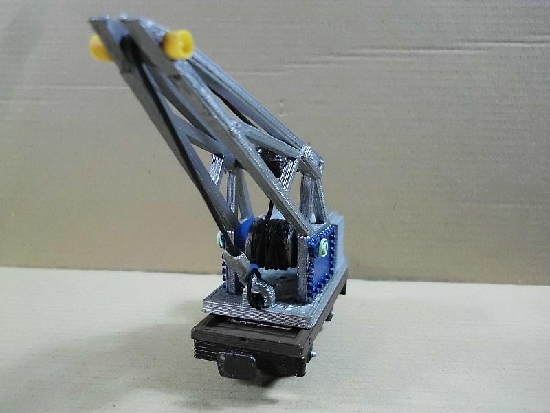 Kleiner Eisenbahnkran im 3D - Druck, 0n30, ein Versuch der Machbarkeit 829